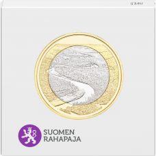 Suomi 2018 5 € Kansallismaisemat - Oulankajoki PROOF