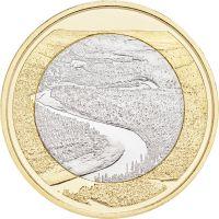 Suomi 2018 5 € Kansallismaisemat - Oulankajoki UNC