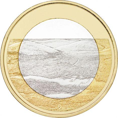 Suomi 2018 5 € Kansallismaisemat - Pallastunturit UNC