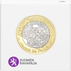 Suomi 2018 5 € Kansallismaisemat - Porvoonjokilaakso ja vanha Porvoo PROOF