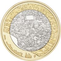 Suomi 2018 5 € Kansallismaisemat - Porvoonjokilaakso ja vanha Porvoo UNC