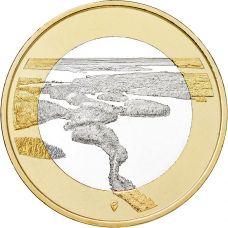 Suomi 2018 5 € Kansallismaisemat - Punkaharju UNC