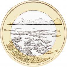 Suomi 2018 5 € Kansallismaisemat - Saaristomeri UNC