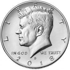 "USA 2018 $0,50 Kennedy ""D"" UNC"