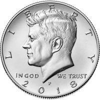 "USA 2018 $0,50 Kennedy ""P"" UNC"
