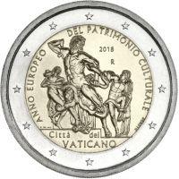 Vatikaani 2018 2 € Laokoon-ryhmä UNC