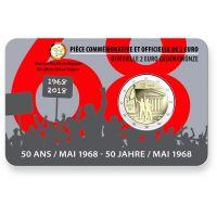 Belgia 2018 2 € Toukokuun 1968 tapahtumista 50v, Ranska COINCARD