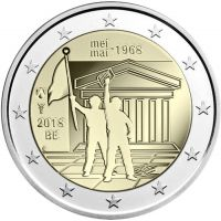 Belgia 2018 2 € Toukokuun 1968 tapahtumista 50v UNC