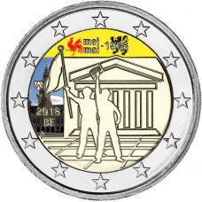 Belgia 2018 2 € Toukokuun 1968 tapahtumista 50v VÄRITETTY