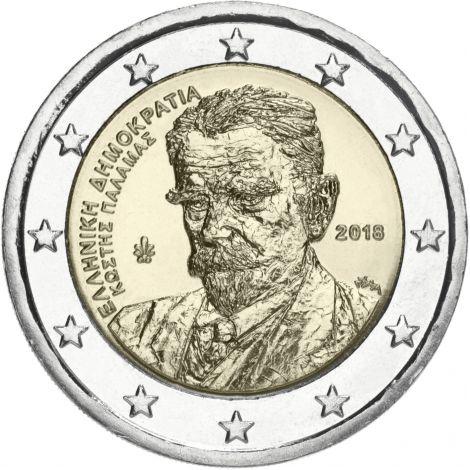 Kreikka 2018 2 € Kostis Palamas UNC
