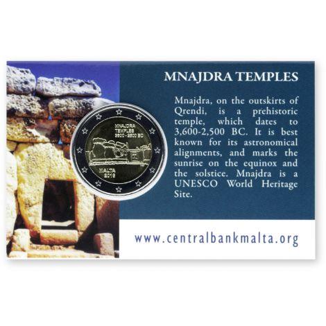 Malta 2018 2 € Mnajdran temppelit COINCARD