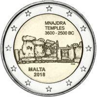 Malta 2018 2 € Mnajdran temppelit UNC