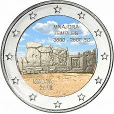 Malta 2018 2 € Mnajdran temppelit VÄRITETTY