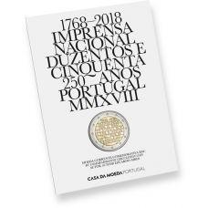 Portugali 2018 2 € INCM 250 vuotta COINCARD