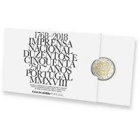 Portugali 2018 2 € INCM 250 vuotta PROOF