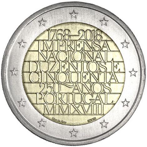 Portugali 2018 2 € INCM 250 vuotta UNC