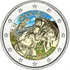 San Marino 2018 2 € Tintoretto VÄRITETTY