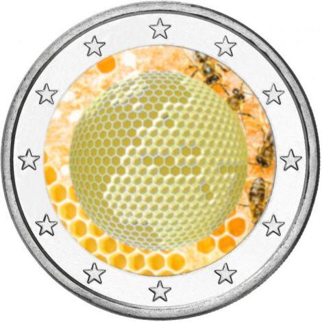 Slovenia 2018 2 € Maailman mehiläispäivä VÄRITETTY