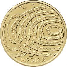 Suomi 2018 100 € Suomi 100 vuoden kuluttua KULTA PROOF