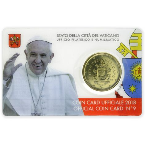 Vatikaani 2018 50 c COINCARD