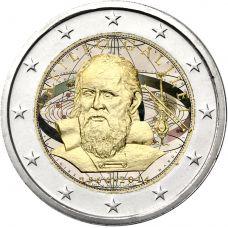 Italia 2014 2 € Galileo Galilei 450v #2 VÄRITETTY
