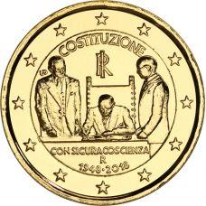 Italia 2018 2 € Perustuslaki 70 vuotta KULLATTU