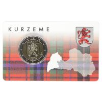 Latvia 2017 2 € Kurzeme COINCARD