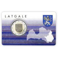 Latvia 2017 2 € Latgale COINCARD