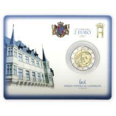 Luxemburg 2007 2 € Suurherttuan palatsi COINCARD