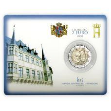 Luxemburg 2008 2 € Bergin linna COINCARD