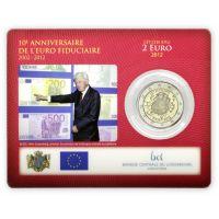 Luxemburg 2012 2 € Euro 10 vuotta COINCARD