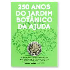 Portugali 2018 2 € Kasvitieteellinen puutarha Ajuda 250v COINCARD