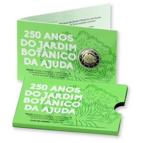 Portugali 2018 2 € Kasvitieteellinen puutarha Ajuda 250v PROOF