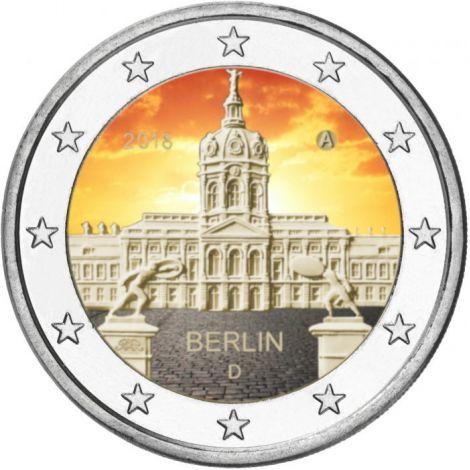 Saksa 2018 2 € Charlottenburgin linna Berliinissä VÄRITETTY