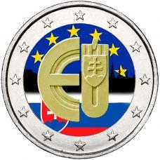 Slovakia 2014 2 € EU:n jäsen 10v VÄRITETTY