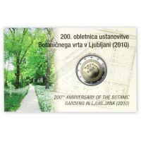 Slovenia 2010 2 € Botanical Garden of Ljubljana COINCARD