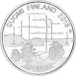 Suomi 2018 10 € Suomalainen saunakulttuuri HOPEA PROOF