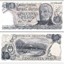 Argentiina 1974 50 Pesos P296 UNC