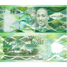 Barbados 2013 5 Dollars P74a UNC