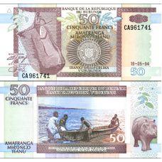Burundi 1994 50 Francs P36a UNC