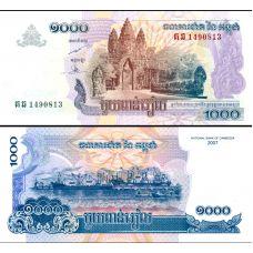 Cambodia 2007 1000 Riels P58b UNC