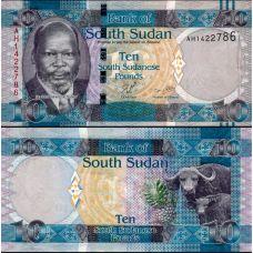 Etelä-Sudan 2011 10 Pounds P7 UNC
