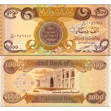 Irak 2003 1000 Dinars P93a UNC
