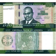 Liberia 2016 100 Dollars P35 UNC