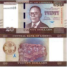 Liberia 2016 20 Dollars P33 UNC