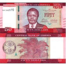 Liberia 2016 50 Dollars P34 UNC