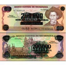 Nicaragua 1990 200000 Cordobas P162 UNC