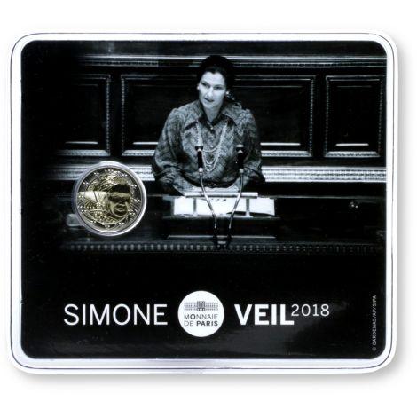 Ranska 2018 2 € Simone Veil COINCARD