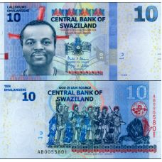 Swazimaa 2014 10 Emalangeni P36b UNC