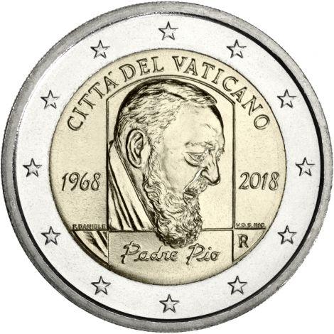 Vatikaani 2018 2 € Padre Pio UNC